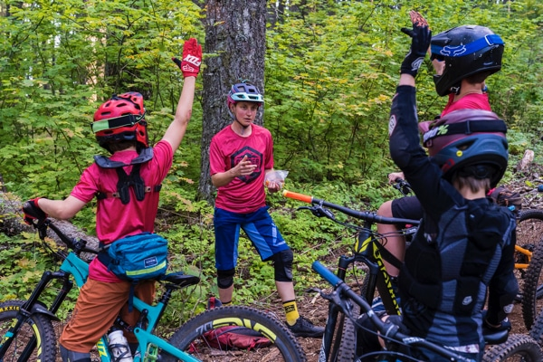 Bekah answers mountain bike questions from students
